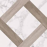 40х40 Керамическая плитка пол Marmo Wood Grate Мармо Вуд белый керамогранит, фото 1