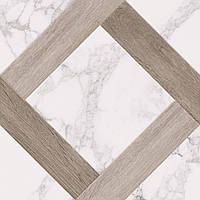 40х40 Керамічна плитка підлогу Marmo Wood Grate Мармо Вуд білий керамограніт, фото 1