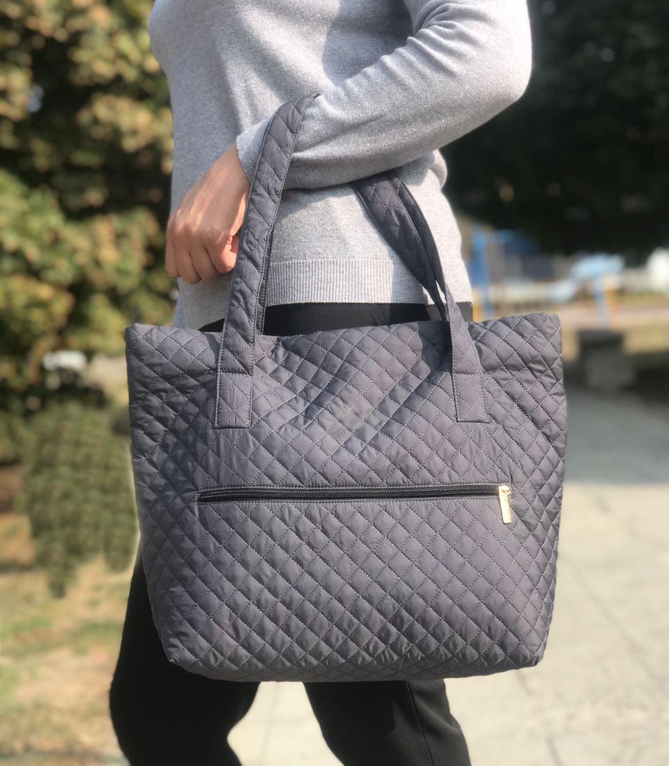 Женская сумка стеганая BR-S серая (1264498000)