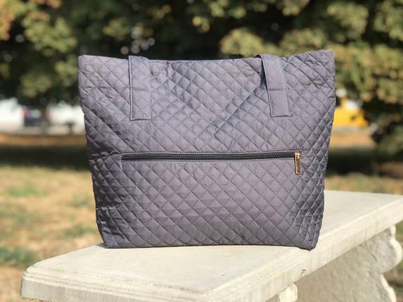 Женская сумка стеганая BR-S серая (1264498000), фото 2