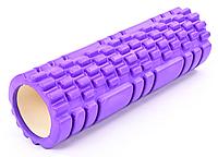 Массажер рулон Массажный валик для тела Zelart Grid Combi Roller 14*45 cм 007 фиолетовый