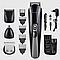 Машинка триммер для стрижки волос KEMEI KM-600 (11 В 1 + Подставка), фото 2