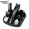 Машинка триммер для стрижки волос KEMEI KM-600 (11 В 1 + Подставка), фото 3