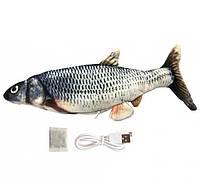 Вибрирующая игрушка-рыба для кота Capsboard Fish, фото 1
