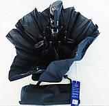 Зонт мужской полуавтомат складной анти-ветер черный на 9 спиц, фото 2