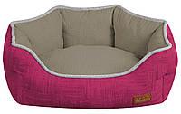 Диван для животного COZY FUXIA, овальный, розово-серый, 85x66x23см