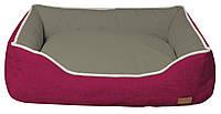 Диван для животного COZY FUXIA, прямоугольный, розово-серый, 70х60x20см