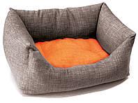 Диван для животного Dual, серый/оранжевый, 45х30см