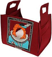 Диван-сумка для животного Popcat King Bordeaux, бордовый, 35х25х30см