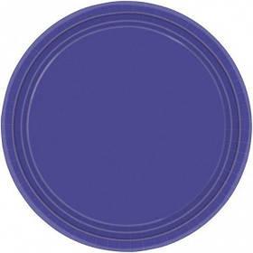 """Тарілки паперові стиль """"Однотонний"""", синій, 8 шт, 23 см, Набор тарелок """"Синий (Royal Blue)"""""""