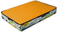 Подушка для животного COZY FLO, прямоугольная, оранж/цветы, 75x52x10см