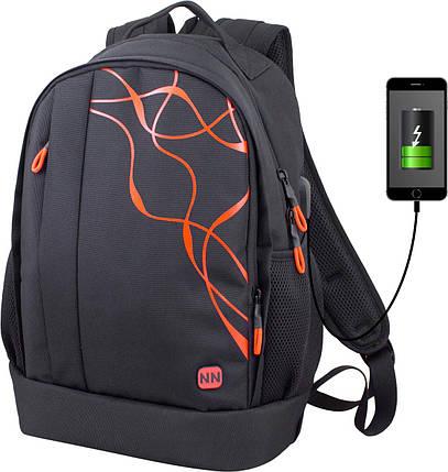 Школьный рюкзак подростковый на два отдела с USB для мальчика Winner One 415O, фото 2