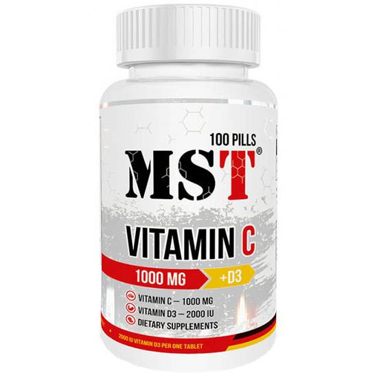MST Vitamin C 1000 Mg +D3 100 tab