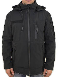 Куртка софтшелл чёрная форменная (Поліція, ДСНС)