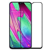 Захисне скло 3D для / Samsung A40S (Чорний)
