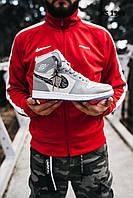 Мужские кроссовки Nike Air Jordan 1 Retro x Dior (бело/голубые) KS 1549