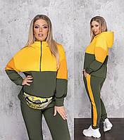 Женский теплый трикотажный спортивный костюм.Размеры:50/64.+Цвета, фото 1