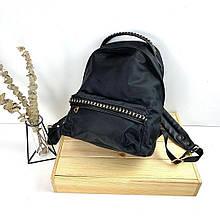 Рюкзак тканевый с цепочкой спереди и на ручке (0574) Черный