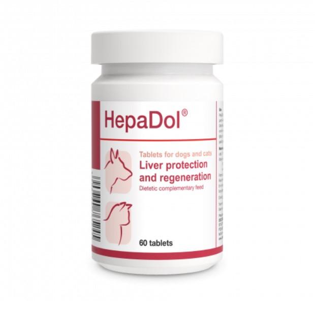 Dolfos ГепаДол 60таб - защита и регенерация печени для собак и кошек HepaDol Долфос