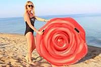 Пляжный надувной матрас Intex «Роза», 137 х 132 см