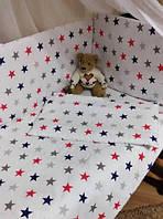Набор 11в1 детское постельное в кроватку 120*60 все включено