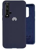 Чехол Silicone Case Full для Huawei Nova 5T navy blue (хуавей нова 5т)