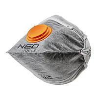 Пылезащитная полумаска складная с активированным углем FFP1 с клапаном 3 шт NEO TOOLS 97-311, фото 1