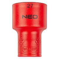 """Головка сменная 6-гранная 1/2"""" 27 мм 1000V NEO TOOLS 01-193"""