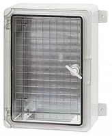 Пластиковый  влагозащищенный щиток с монтажной панелью IP65 300х400х170 прозрачная дверца