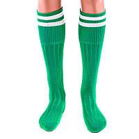 Гетры футбольные детские подростковые Хлопок-нейлон-эластан Зеленый (СМИ N022G) 34-39 размер, фото 1