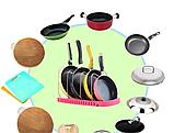 Подставка-органайзер для сковородок 45*23см, фото 6