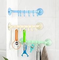 Крючки для ванной на присоске 34,5 см х 7,1 см