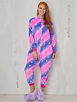 Пижама кигуруми Единорог Галактика фиолетово-розовый S (150-160см)