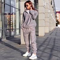 Женский теплый весенний костюм серый, фото 1