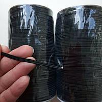 Лента - резинка для масок черная, 3 мм/100 м, фото 1