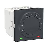 Термостат для теплої підлоги антрацит Unica New Schneider Electric NU350354