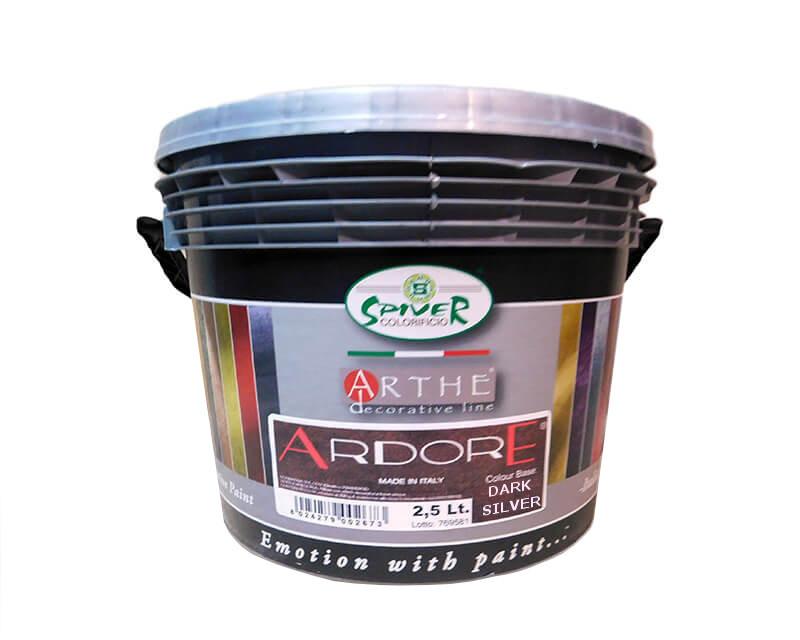 """Штукатурка """"перлинні пластівці"""" SPIVER ARDORE декоративна темно-сріблястий (база DARK SILVER) 2,5 л"""