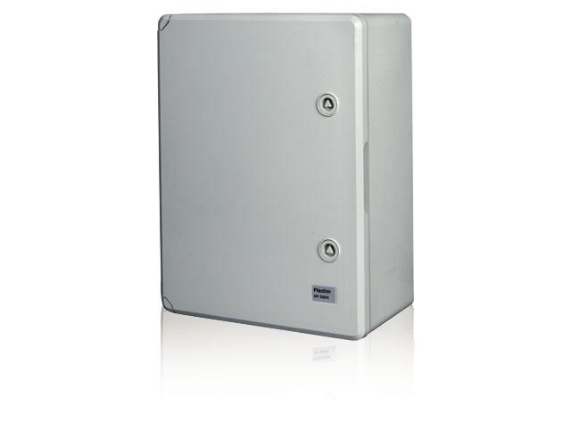 Пластиковый  влагозащищенный щит с монтажной панелью IP65 400х500х240 непрозрачная дверца