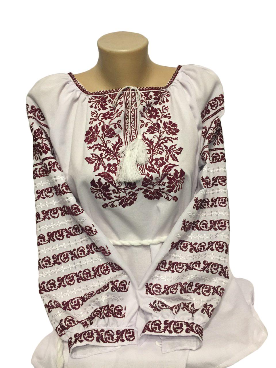 """Жіноча вишита сорочка (блузка) """"Ентоні"""" (Женская вышитая рубашка (блузка) """"Ентоні"""") BT-0015"""