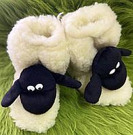 Чуні дитячі з овечої шерсті, фото 1