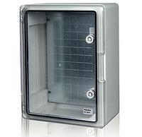 Пластиковый щит  IP65 влагозащищенный с монтажной панелью 500х700х250 прозрачная дверца