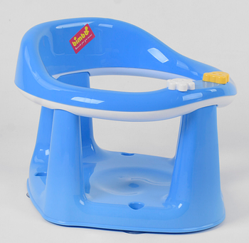Дитяче сидіння для купання на присосках BM-55005 Blue-White Гарантія якості Швидка доставка