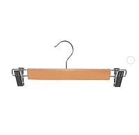 Вешалка для брюк с прищепками 33см, Wood, 10шт/упаковка R85406