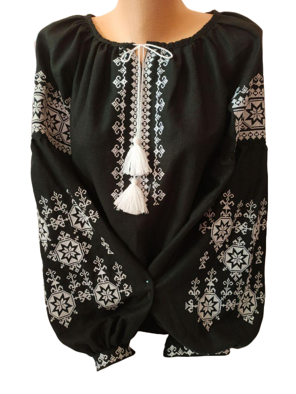 "Жіноча вишита сорочка (блузка) ""Бонні"" (Женская вышитая рубашка (блузка) ""Бонні"") BT-0022"