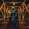 """МАСКА на Helloween 2020! Светящаяся НЕОНОВАЯ маска - """"Судная ночь"""" БЕЛАЯ, фото 2"""