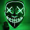 """МАСКА на Helloween 2020! Світиться НЕОНОВА маска - """"Судно ніч"""" GREEN, фото 4"""