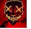 """МАСКА на Helloween 2020! Светящаяся НЕОНОВАЯ маска - """"Судная ночь"""" КРАСНАЯ, фото 3"""