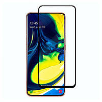 Защитное стекло 3D для Samsung A80 2019 (Черный)