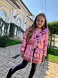 Детская куртка плащ Кокетка с бантом на рост 116-134см, фото 2