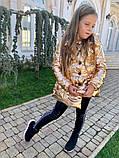 Детская куртка плащ Кокетка с бантом на рост 116-134см, фото 3